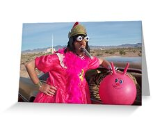 Pink Gladiator Queen Greeting Card