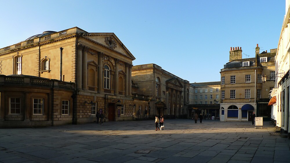 Bath Assembly Rooms in early morning by simontait