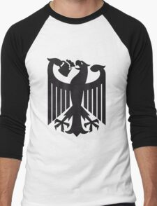 Germany coat of arms eagle beer  Men's Baseball ¾ T-Shirt