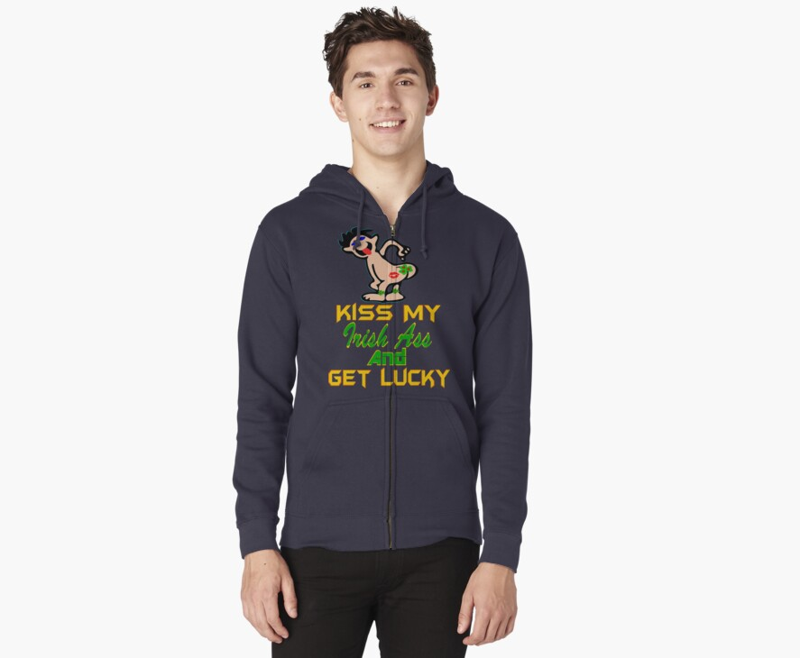 ★ټKiss My Irish Ass and Get Lucky Hilarious Clothing & Stickersټ★ by Fantabulous