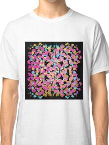 Pink, Blue, & Gold Faux Sparkly Paint Splatter Classic T-Shirt