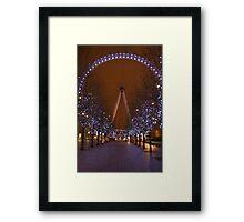 The London Eye.. Framed Print
