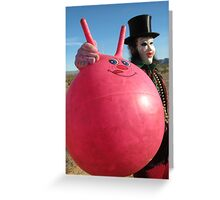 Space Hopper Man Greeting Card
