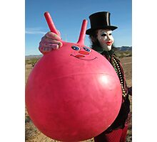 Space Hopper Man Photographic Print