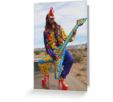 Punk Clown Greeting Card