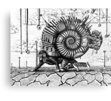 Life in the Shell surreal ink pen drawing Metal Print