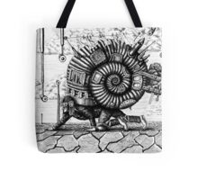 Life in the Shell surreal ink pen drawing Tote Bag