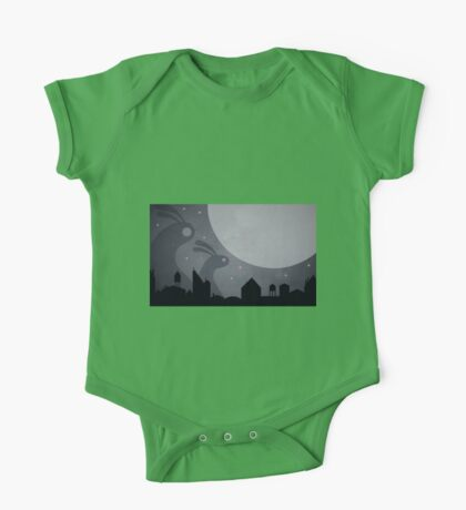 Monster Bunnies are coming! by Aglaia Mortcheva One Piece - Short Sleeve