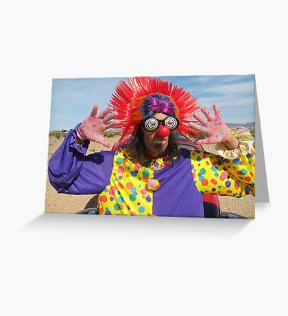 Clown Punk Greeting Card