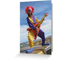 Clown Punk Guitarist Greeting Card