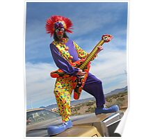 Clown Punk Guitarist Poster