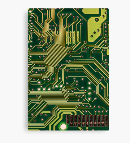 Funny Nerdy Computer Motherboard Canvas Print