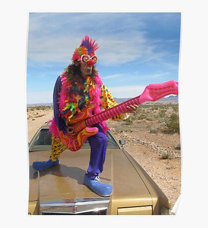 Clown Air Guitar Poster