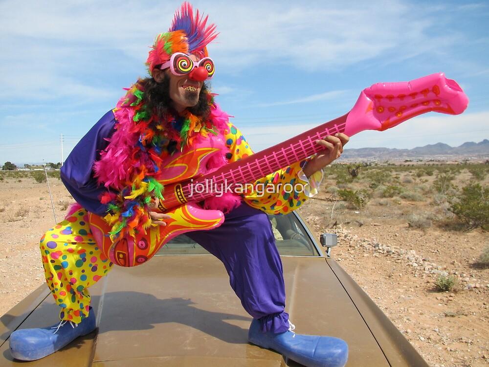 Air Guitar Clown Punk by jollykangaroo
