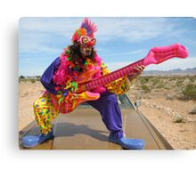 Air Guitar Clown Punk Canvas Print