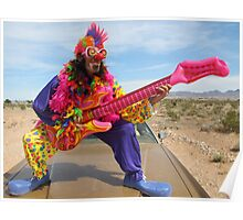 Air Guitar Clown Punk Poster