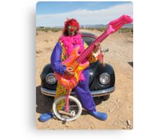 Clown, Unicycle & Guitar Canvas Print