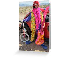 Beetle Punk Clown Greeting Card