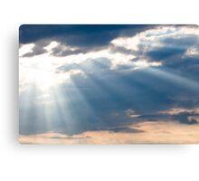 Sun shining thru clouds Canvas Print