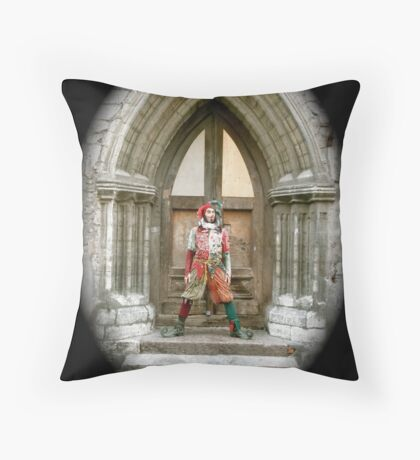 Jester in Europe Throw Pillow
