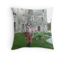 Jester in Estonia Throw Pillow