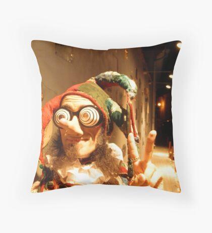 Jester in Vilnius Throw Pillow