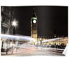 Big Ben with Light Trails Poster