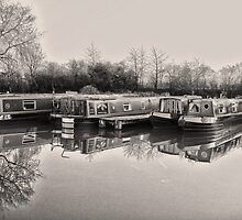 Vintage Canal Scene by DavidWHughes