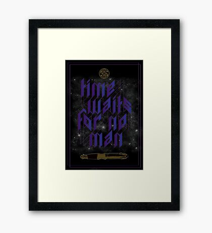 Time Waits For No Man Framed Print