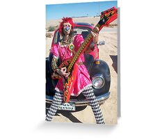 Silky Guitar Freak Greeting Card
