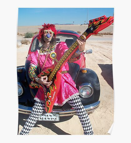 Silky Guitar Freak Poster