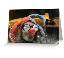 Jester at Skopje castle Greeting Card
