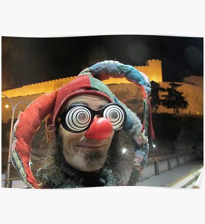 Jester at Skopje castle Poster