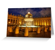 Fountain At St Peter's Square Greeting Card