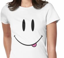 Retro 90s Smiley Raver Womens Fitted T-Shirt