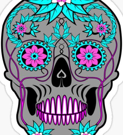 Día de los Muertos (Day Of The Dead) Skull Sticker