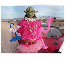Yoda in Vegas Poster