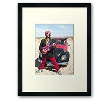 Retro Man guitarist Framed Print