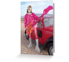 Giraffe Man Greeting Card