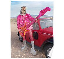Giraffe Man Poster