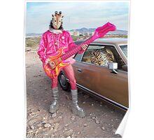 Giraffe of a man Poster