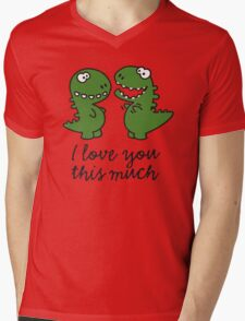 I love you this much (T-Rex) Mens V-Neck T-Shirt