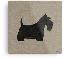 Scottish Terrier Silhouette(s) Metal Print