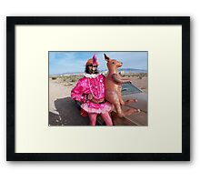 Is it Zappa with a Kangaroo? Framed Print
