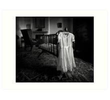 A White Dress In The Nursery Art Print