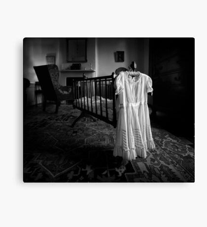 A White Dress In The Nursery Canvas Print