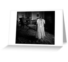 A White Dress In The Nursery Greeting Card