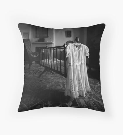 A White Dress In The Nursery Throw Pillow