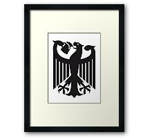 Germany coat of arms eagle beer  Framed Print