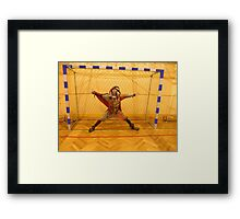 Fool Playing Soccer Framed Print